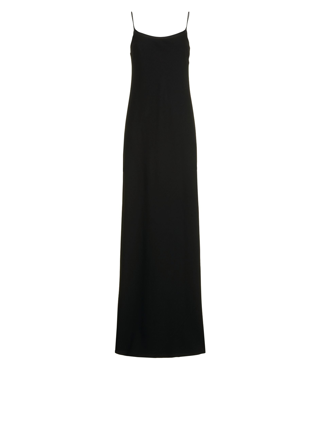 THE ROW Ebbins Matte Crepe Maxi Dress Women's Black