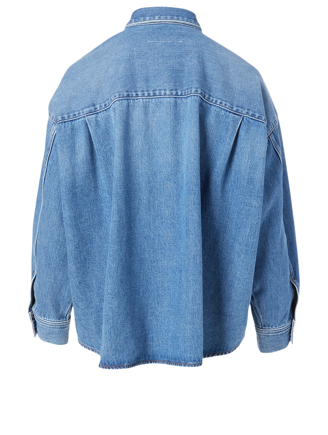 MM6 MAISON MARGIELA Denim Shirt Jacket Women's Blue