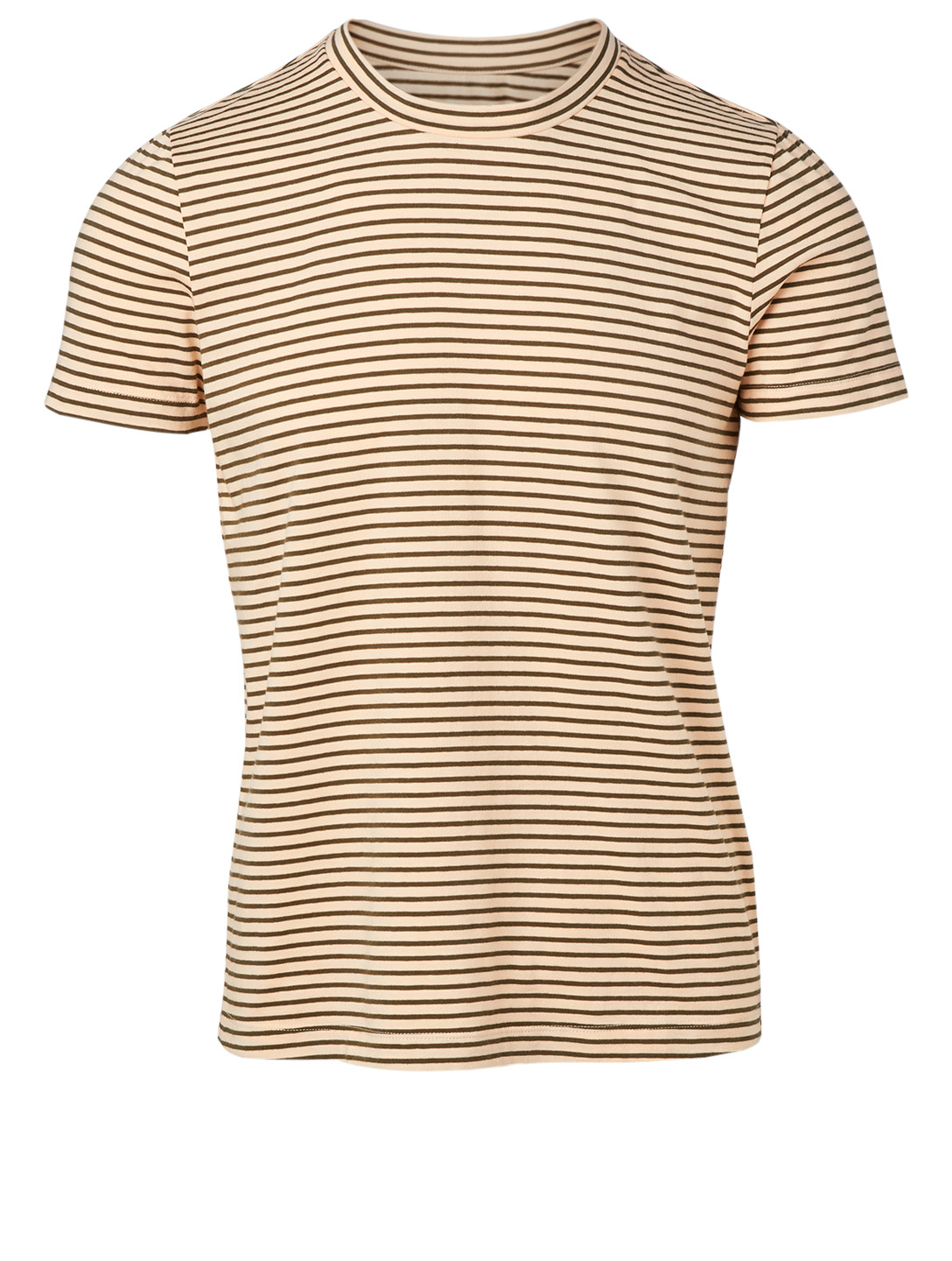 MM6 MAISON MARGIELA Cotton Stretch T-Shirt In Striped Print Women's Beige