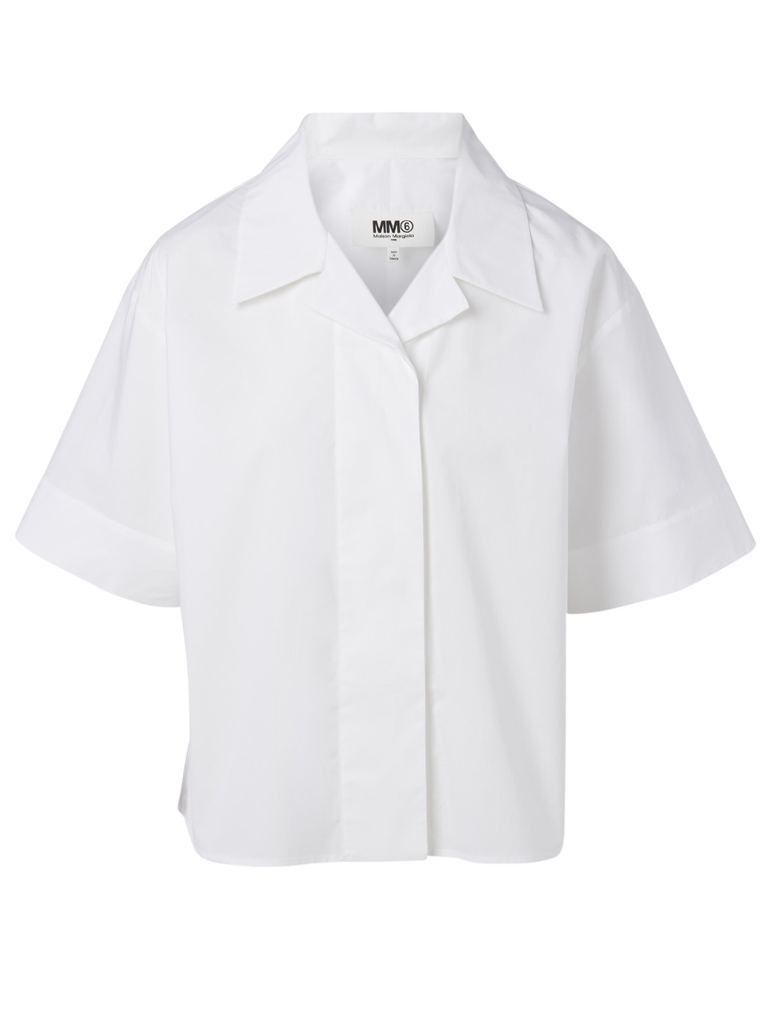 MM6 MAISON MARGIELA Cotton Boxy Shirt Women's White