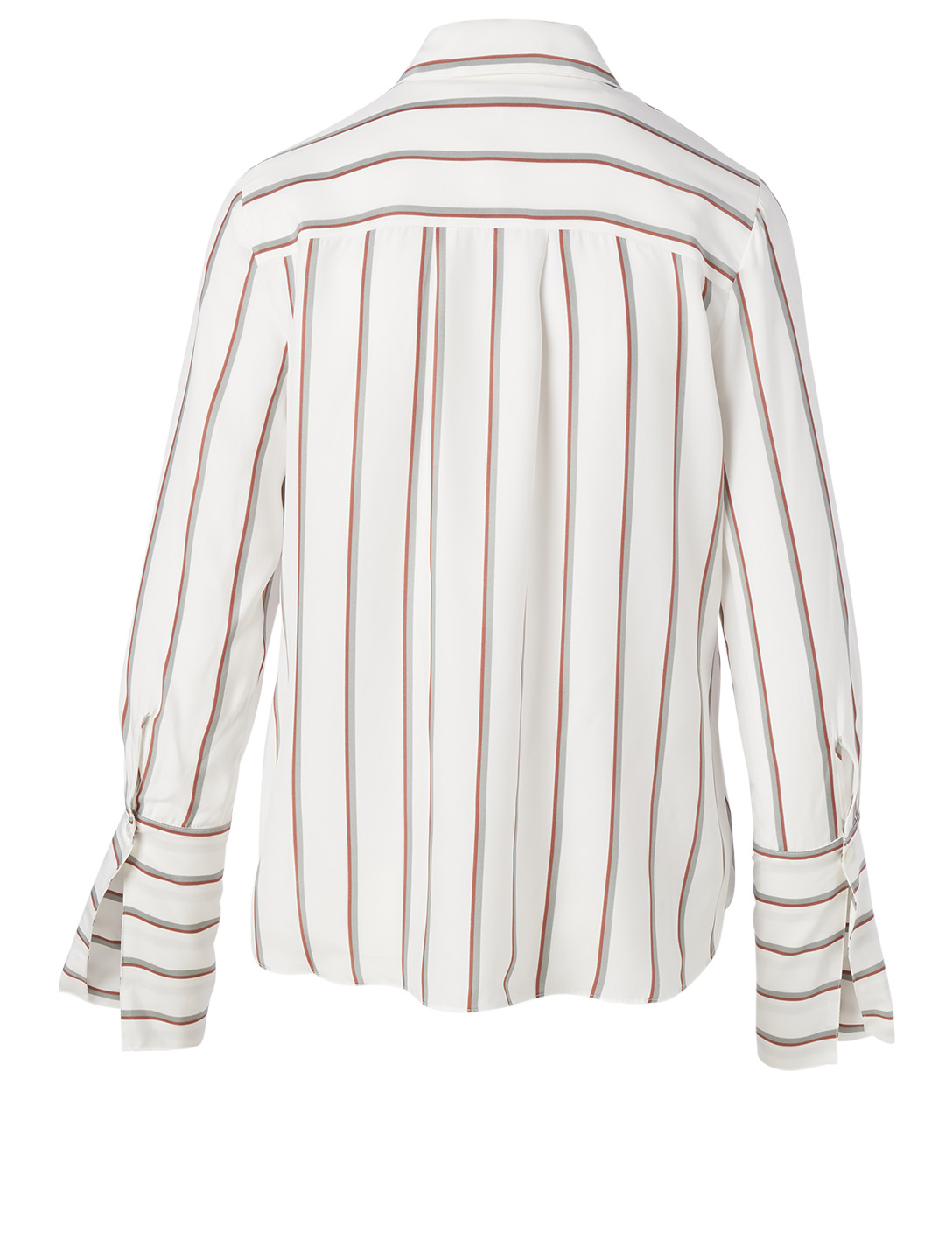 FRAME Silk Pajama Blouse In Striped Print Women's White