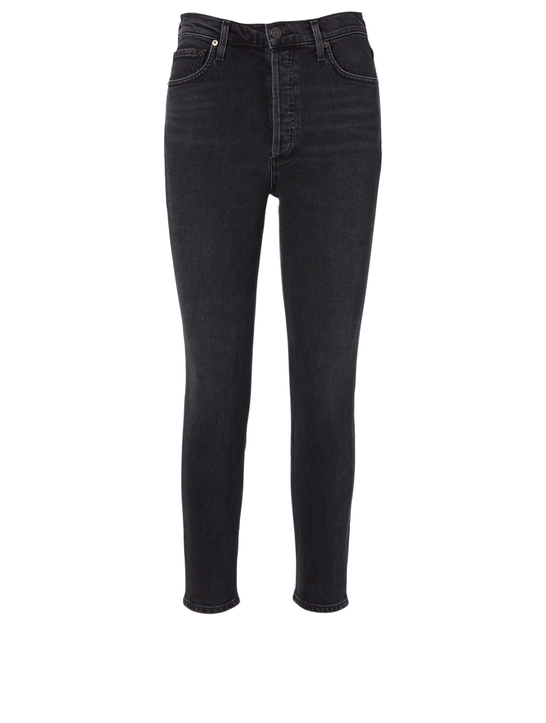 AGOLDE Nico Slim High-Waisted Jeans Women's Grey