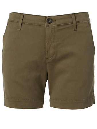 AG Caden Cotton Stretch Shorts Women's Brown