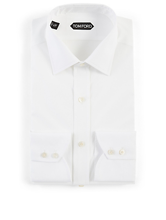 TOM FORD Cotton Poplin Shirt Men's White