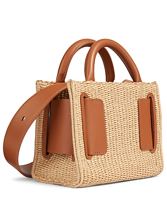BOYY Bobby 18 Leather And Raffia Top Handle Bag Women's Brown