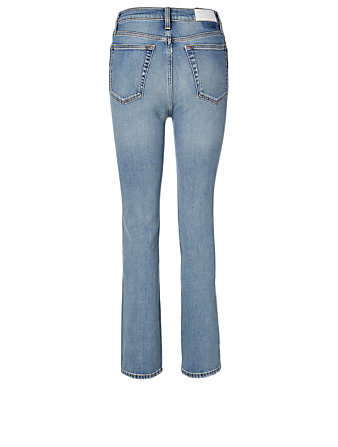 RE/DONE Double Needle Long Skinny Jeans Women's Blue