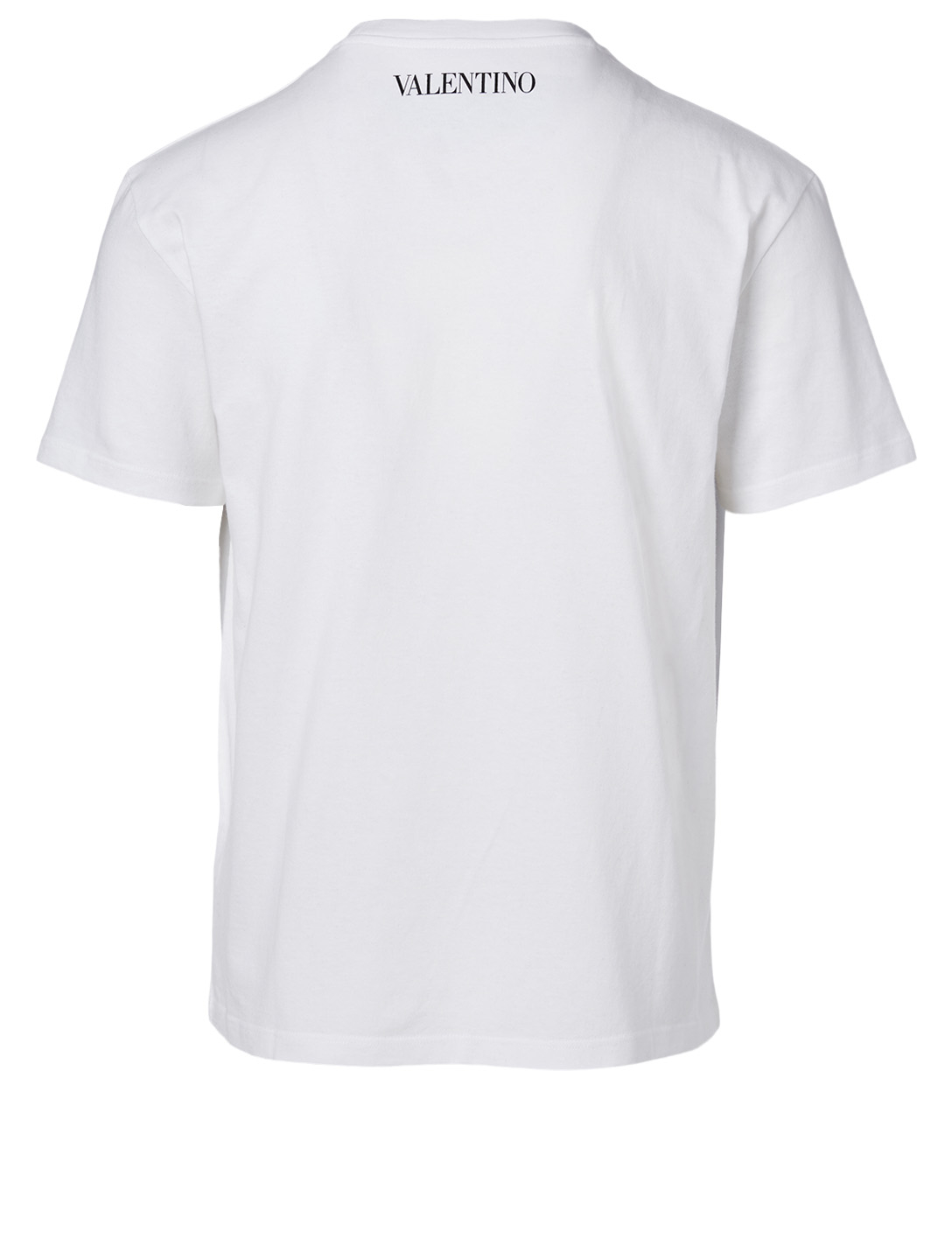 VALENTINO Cotton T-Shirt In Dragonfly Print Men's White
