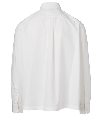 VALENTINO Cotton Shirt With Flap Pocket Men's White