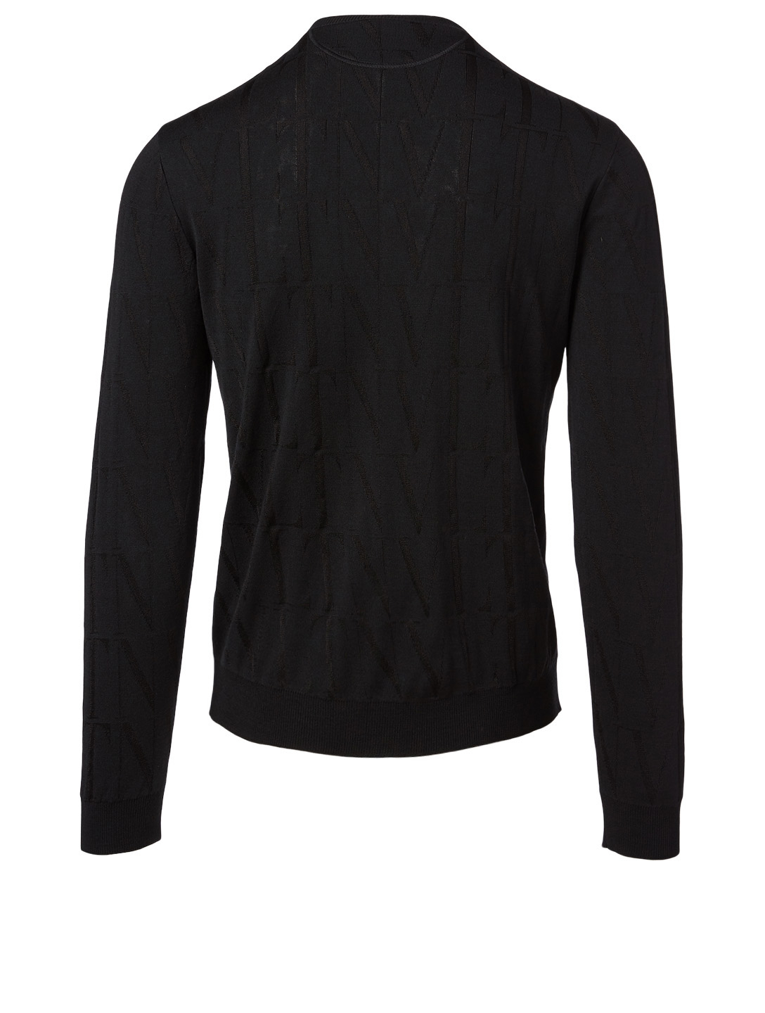 VALENTINO Wool-Blend Crewneck Sweater Men's Black