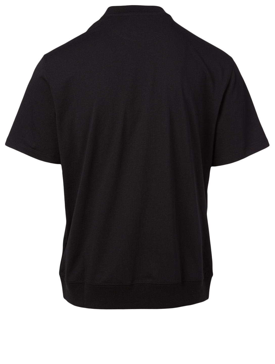 VALENTINO Cotton T-Shirt With Logo Collar Men's Black