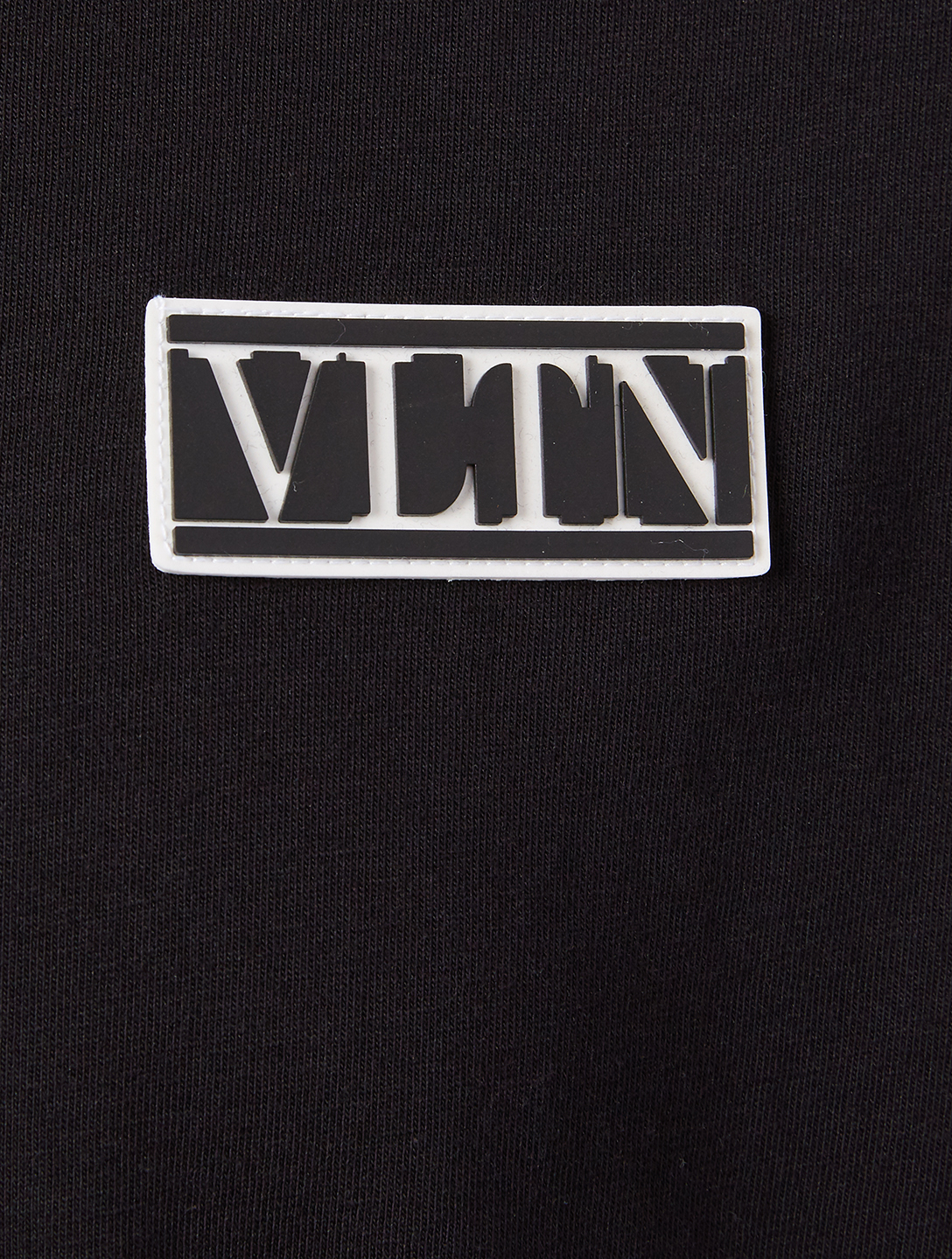 VALENTINO Cotton T-Shirt With VLTN Tag Men's Black