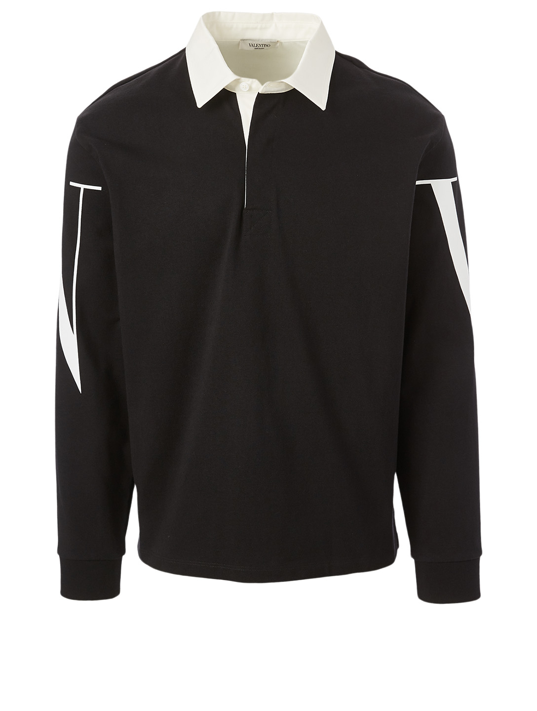 VALENTINO Cotton Long-Sleeve Polo Shirt Men's Multi