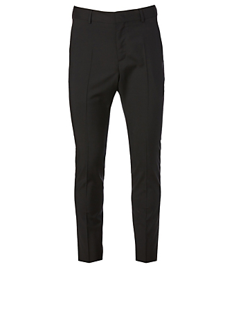 VALENTINO Wool And Mohair Slim Pants Men's Black