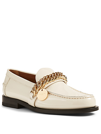 GIVENCHY Patent Leather Loafers With Chain Women's Neutral