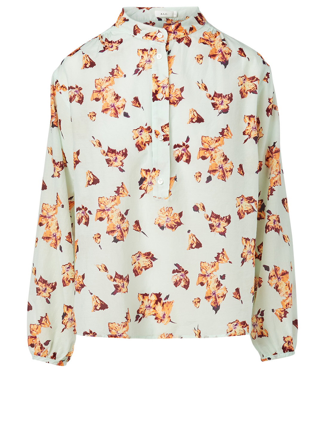 A.L.C. Shira Cotton And Silk Top In Floral Print Women's Multi