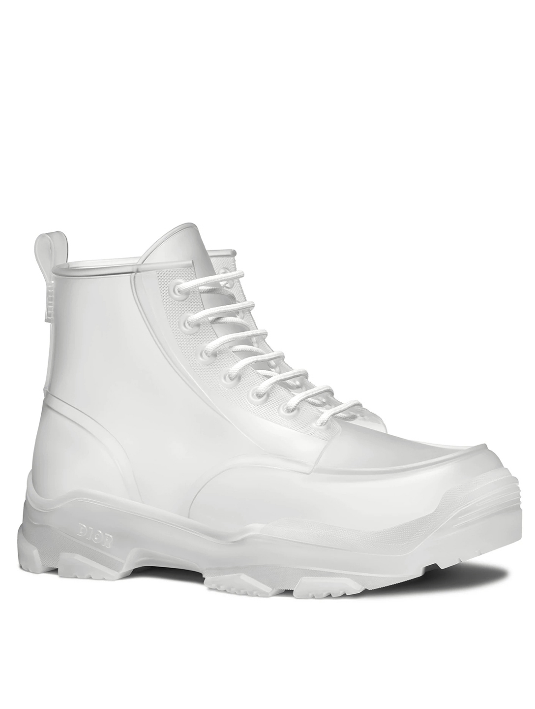 DIOR Transparent High-Top Rubber Boots Men's Neutral