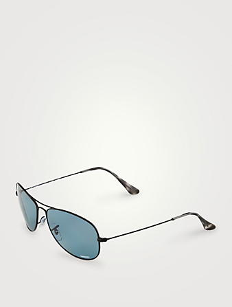 RAY-BAN Chromance RB3562 Aviator Sunglasses Men's Black