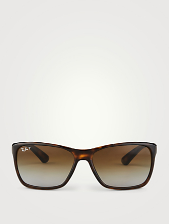 RAY-BAN RB4331 Square Sunglasses Men's Brown