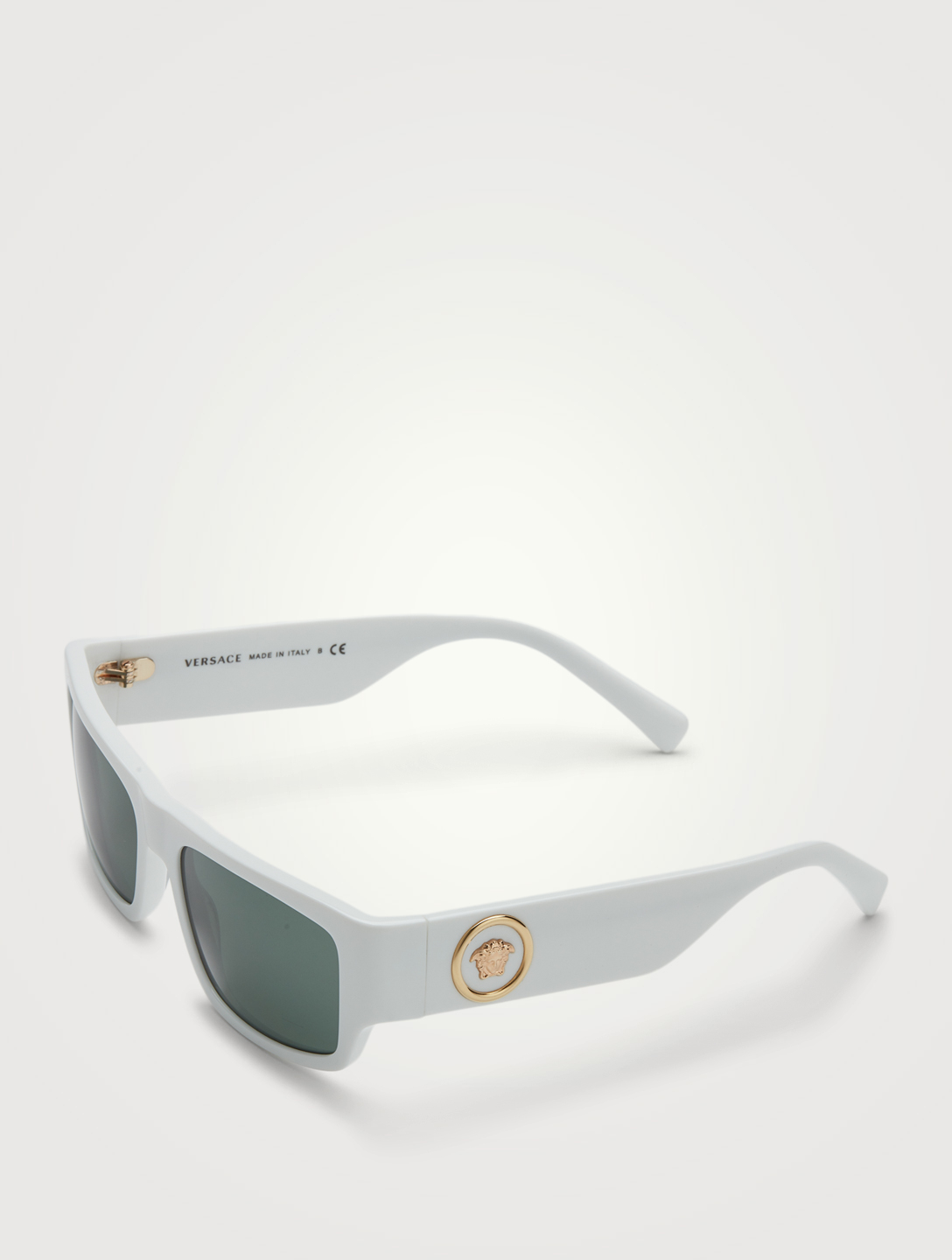 VERSACE Rectangular Sunglasses Men's White