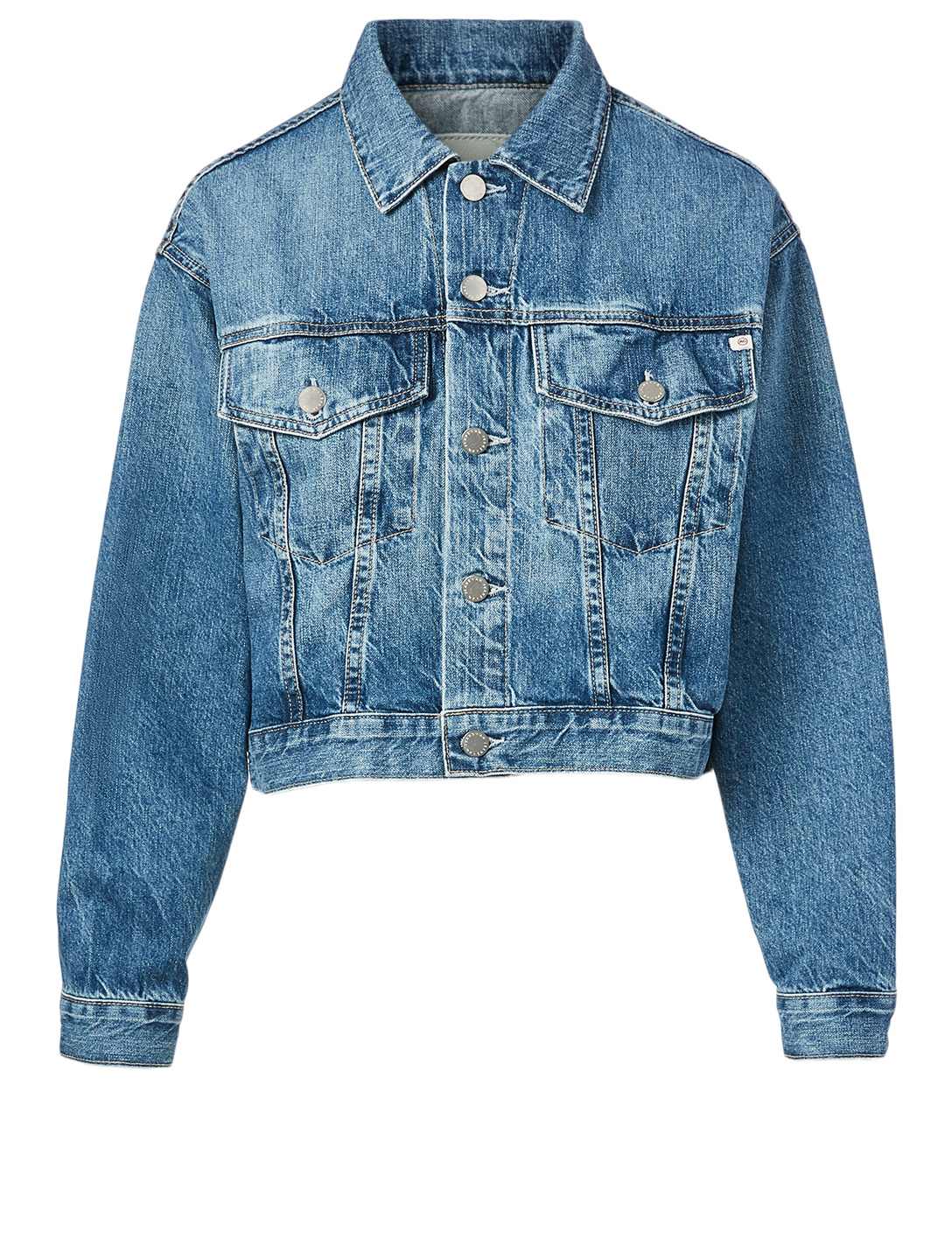 AG Mirah Cropped Trucker Jacket Women's Blue
