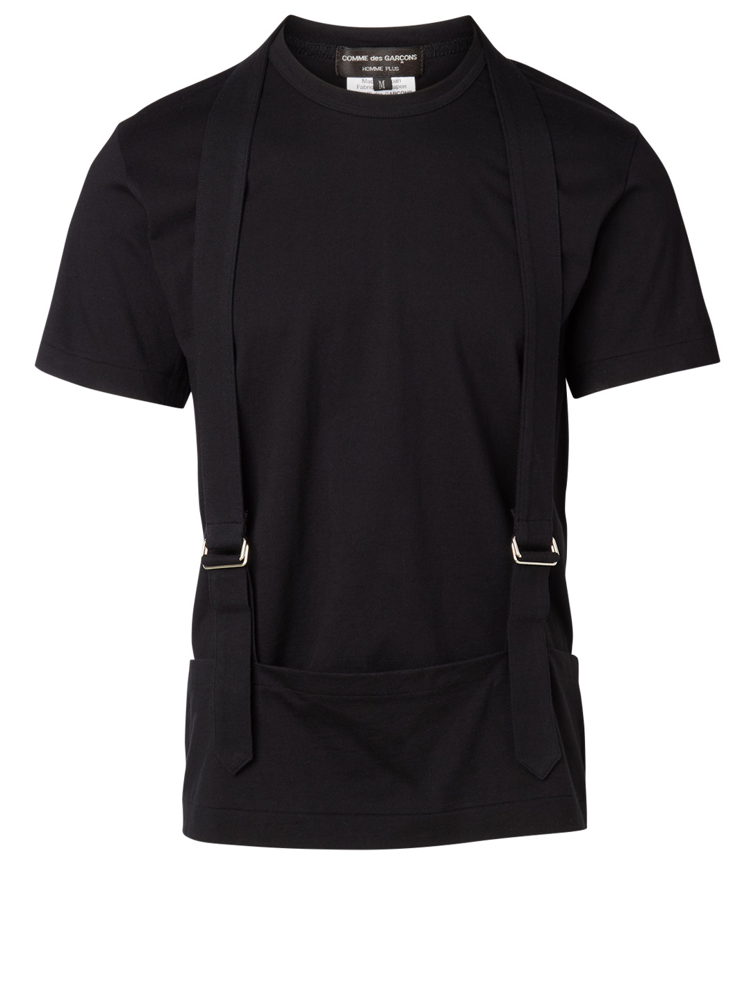 COMME DES GARÇONS HOMME PLUS Cotton T-Shirt With Suspenders Men's Black