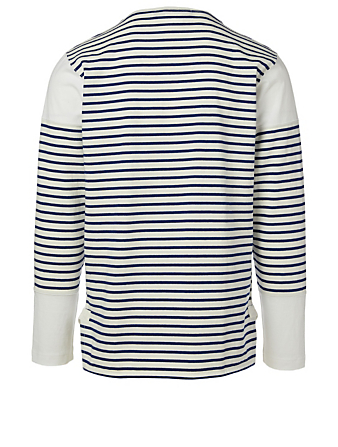 JUNYA WATANABE Cotton-Blend Long-Sleeve T-Shirt In Striped Print Men's White