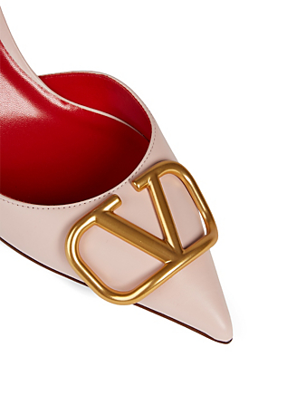 VALENTINO GARAVANI VLOGO Leather Mules Women's Pink