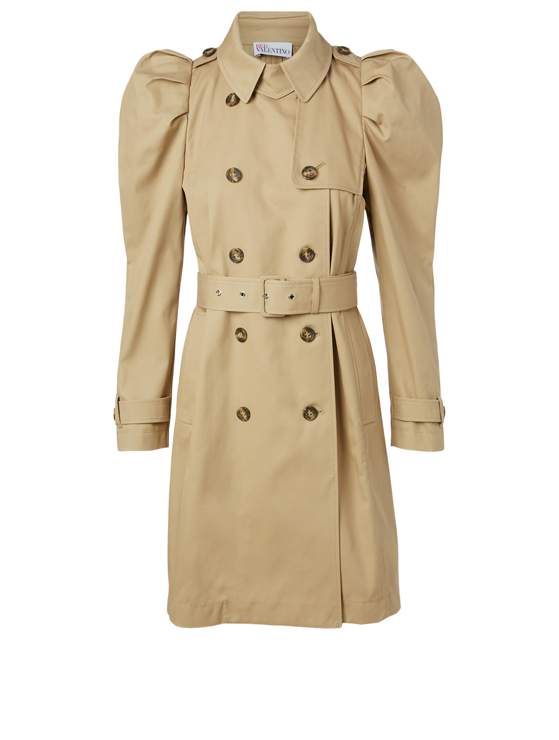 RED VALENTINO Cotton-Blend Trench Coat Women's Beige
