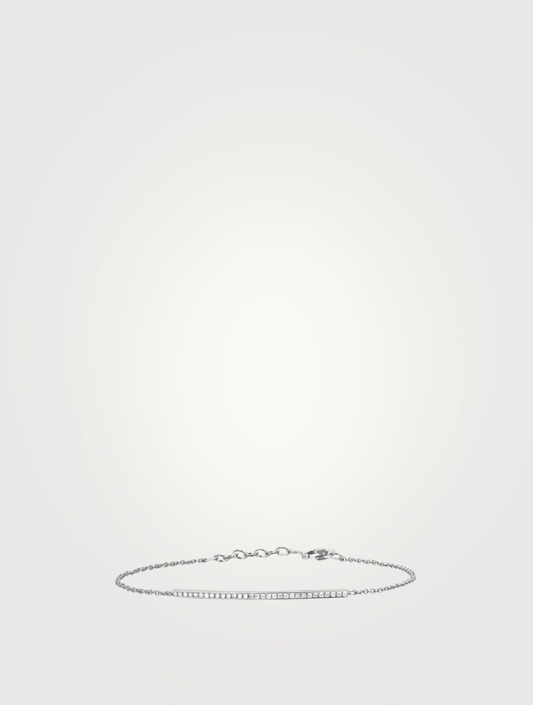 EF COLLECTION Bracelet à barre diamantée en or blanc 14 ct Femmes Métallique