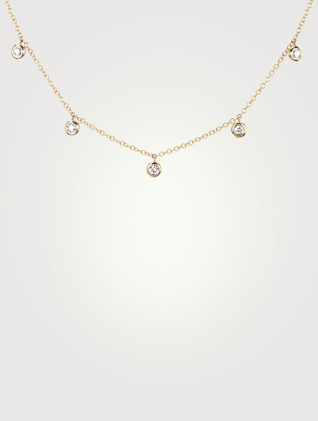 EF COLLECTION 14K Gold Bezel Choker Necklace With Diamonds Women's Metallic