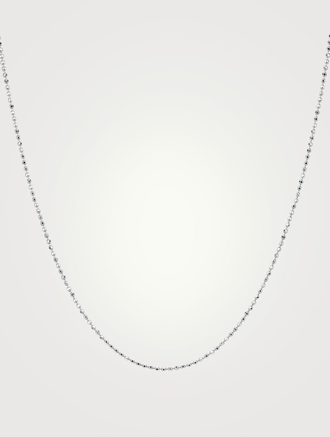 EF COLLECTION 14K White Gold Faceted Chain Women's Metallic