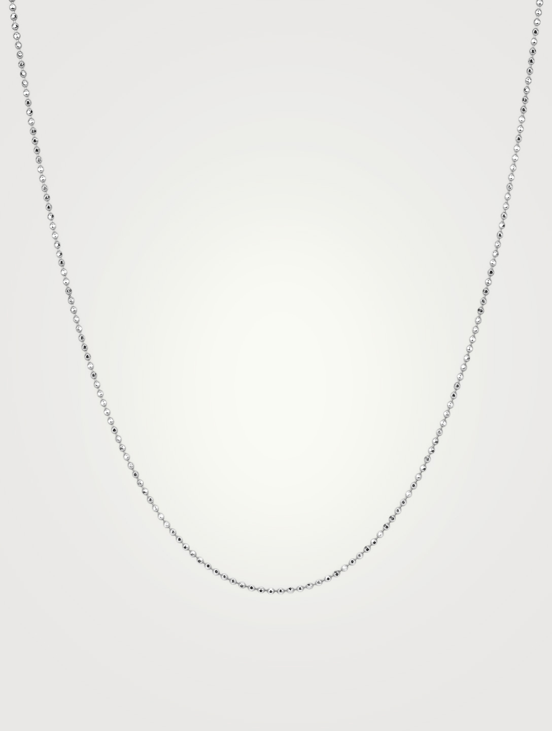 EF COLLECTION Long 14K White Gold Faceted Chain Women's Metallic