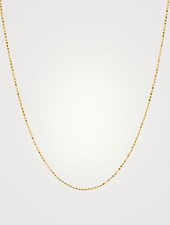 EF COLLECTION Long 14K Gold Faceted Chain Women's Metallic