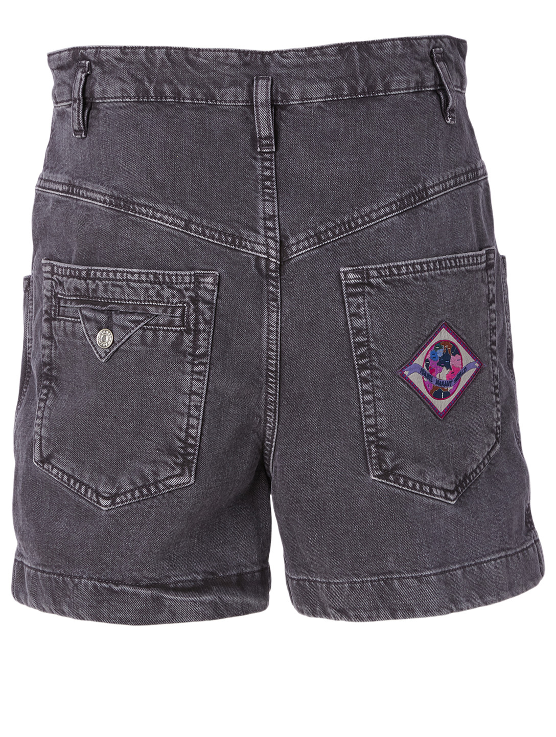 ISABEL MARANT Esquia Cotton Denim Shorts Women's Black