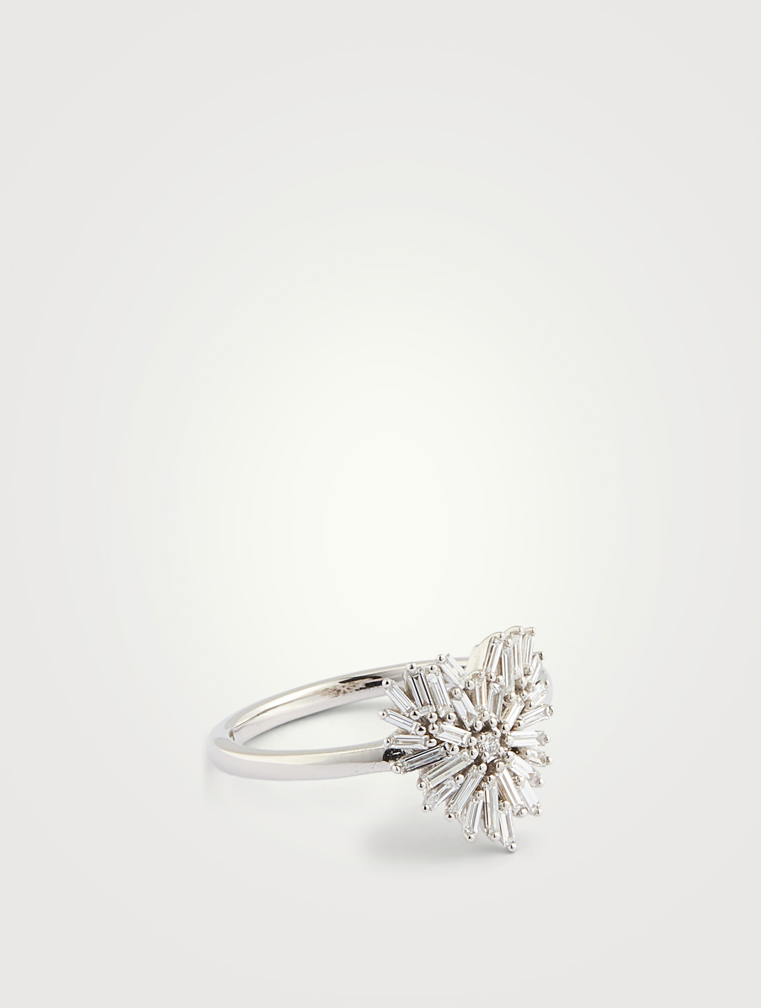SUZANNE KALAN Mini Fireworks 18K White Gold Heart Ring With Diamonds Women's Metallic