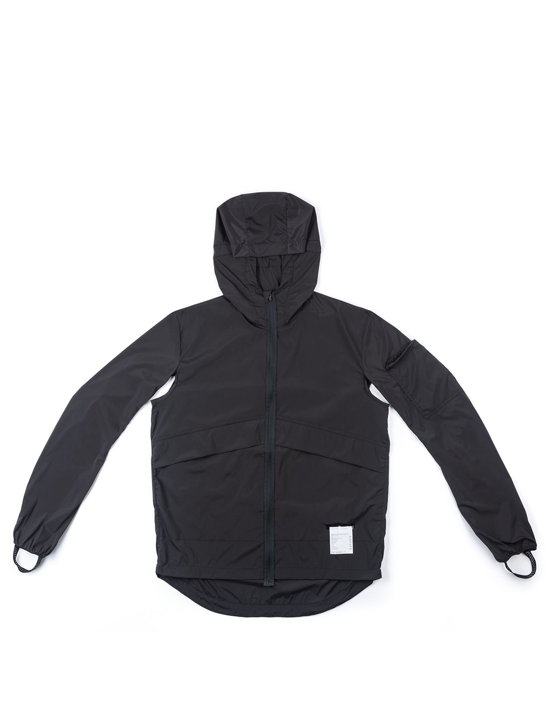 SATISFY Packable Water-Repellent Windbreaker Men's Black