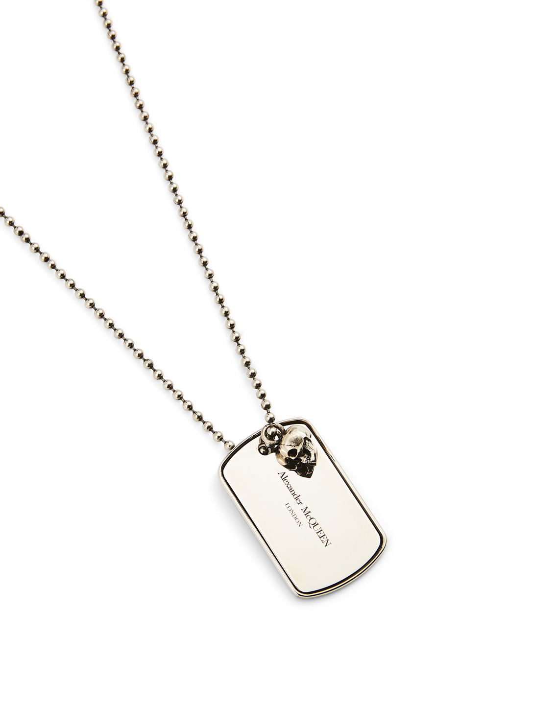ALEXANDER MCQUEEN ID Tag Necklace Men's Metallic