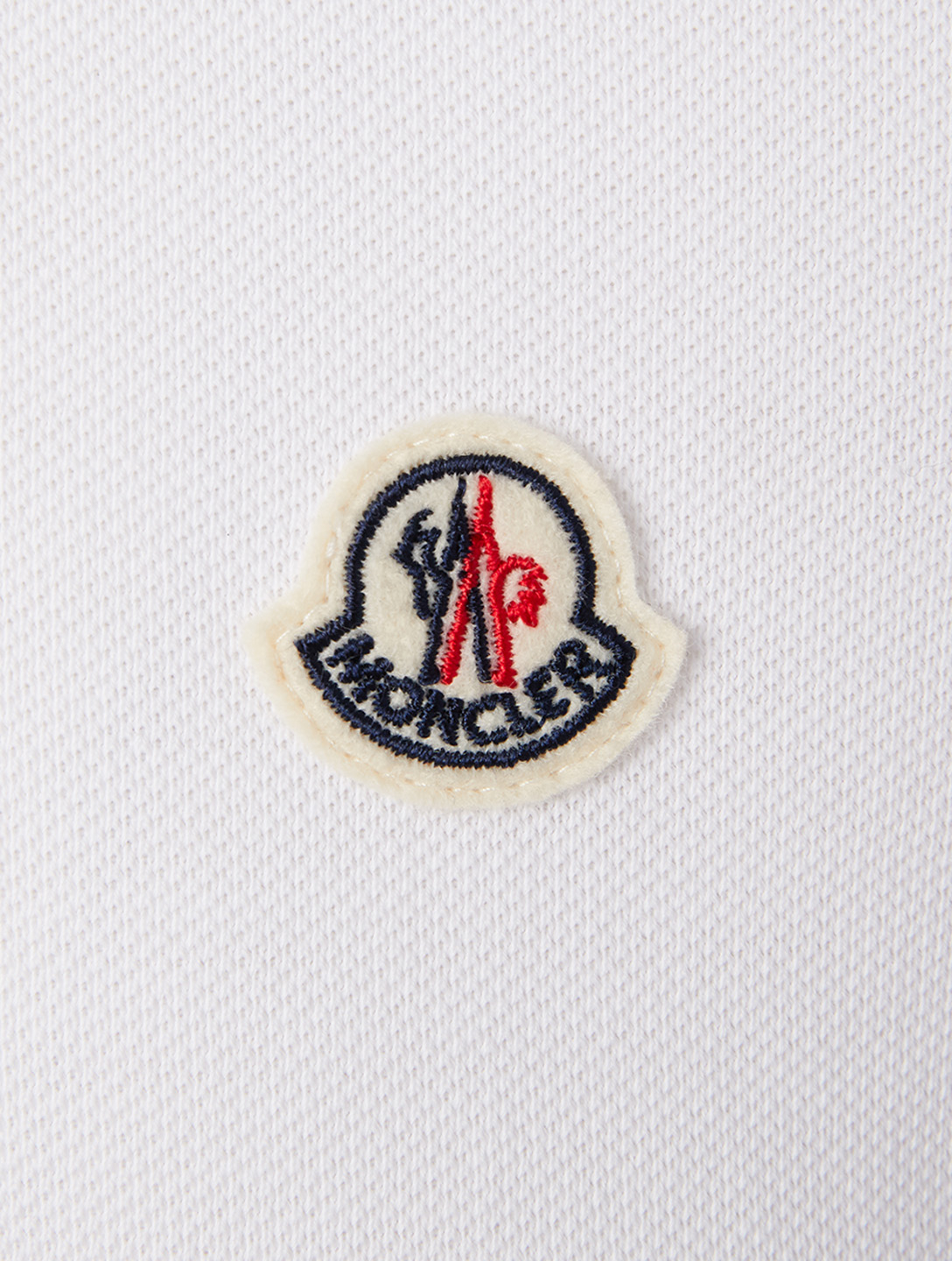 MONCLER Cotton Polo With Logo Men's White