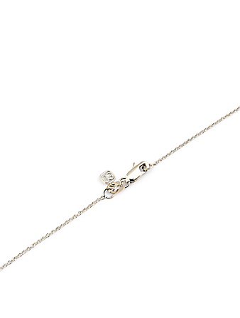 SYDNEY EVAN 14K Gold Moon And Star Necklace With Diamonds Women's Metallic