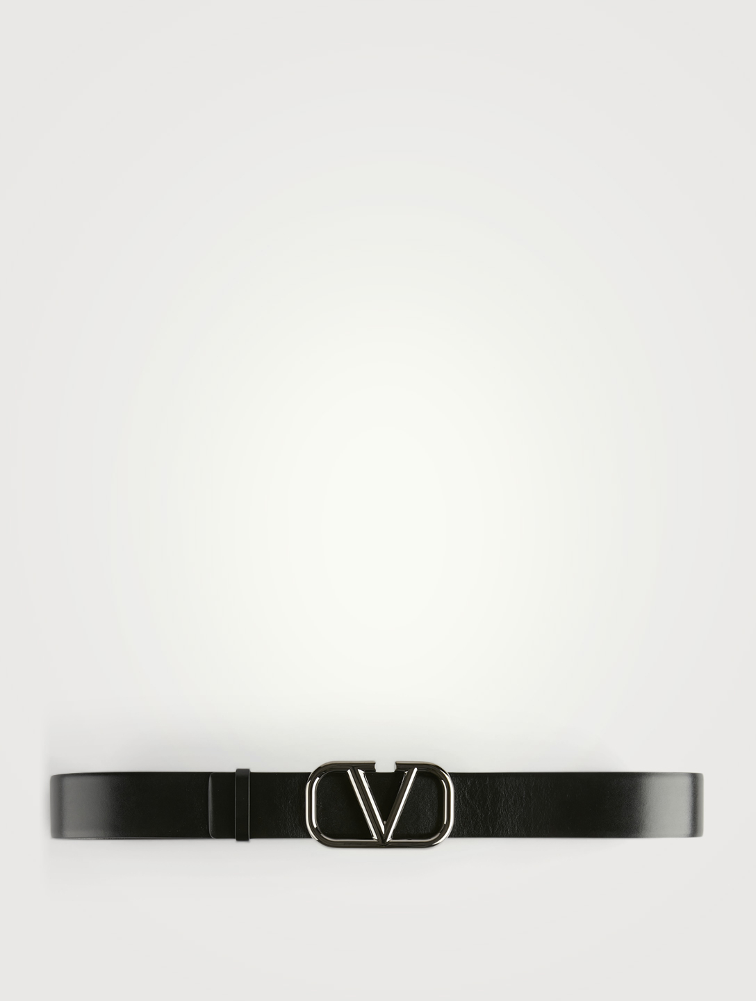 VALENTINO GARAVANI VLOGO Reversible Leather Belt Men's Black