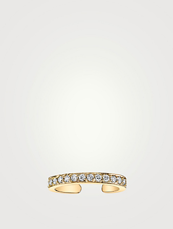 ANITA KO Bague d'oreille en or 18 ct à simple rang de diamants Femmes Métallique