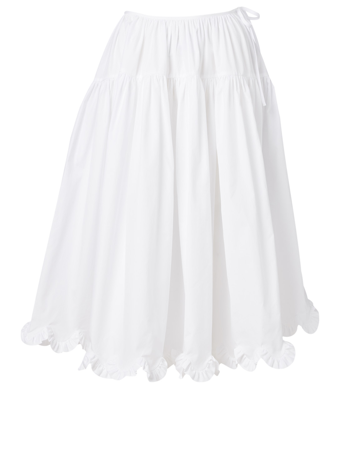 CECILIE BAHNSEN Kasumi Cotton Midi Skirt Women's White