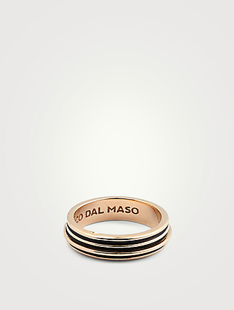 MARCO DAL MASO Acies Single Polished 18K Gold Plated Ring Men's Metallic