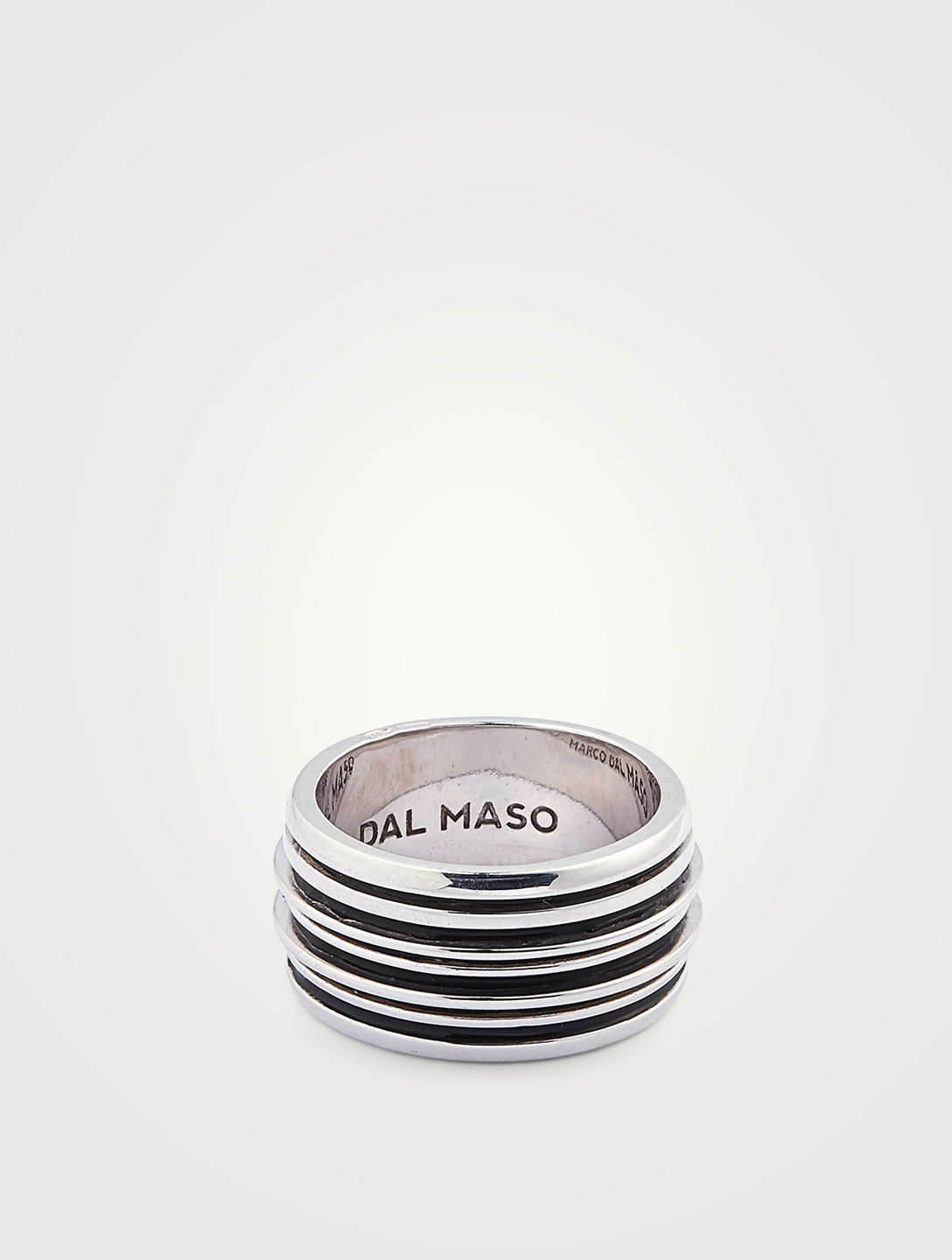 MARCO DAL MASO Acies Double Polished Silver Ring Men's Metallic