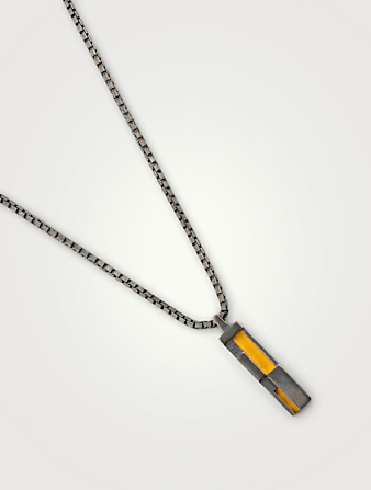 MARCO DAL MASO De Stijl Silver Pendant Necklace Men's Metallic