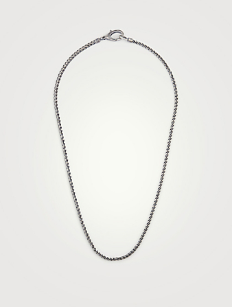 MARCO DAL MASO Ulysses Oxidized Silver Necklace Men's Black
