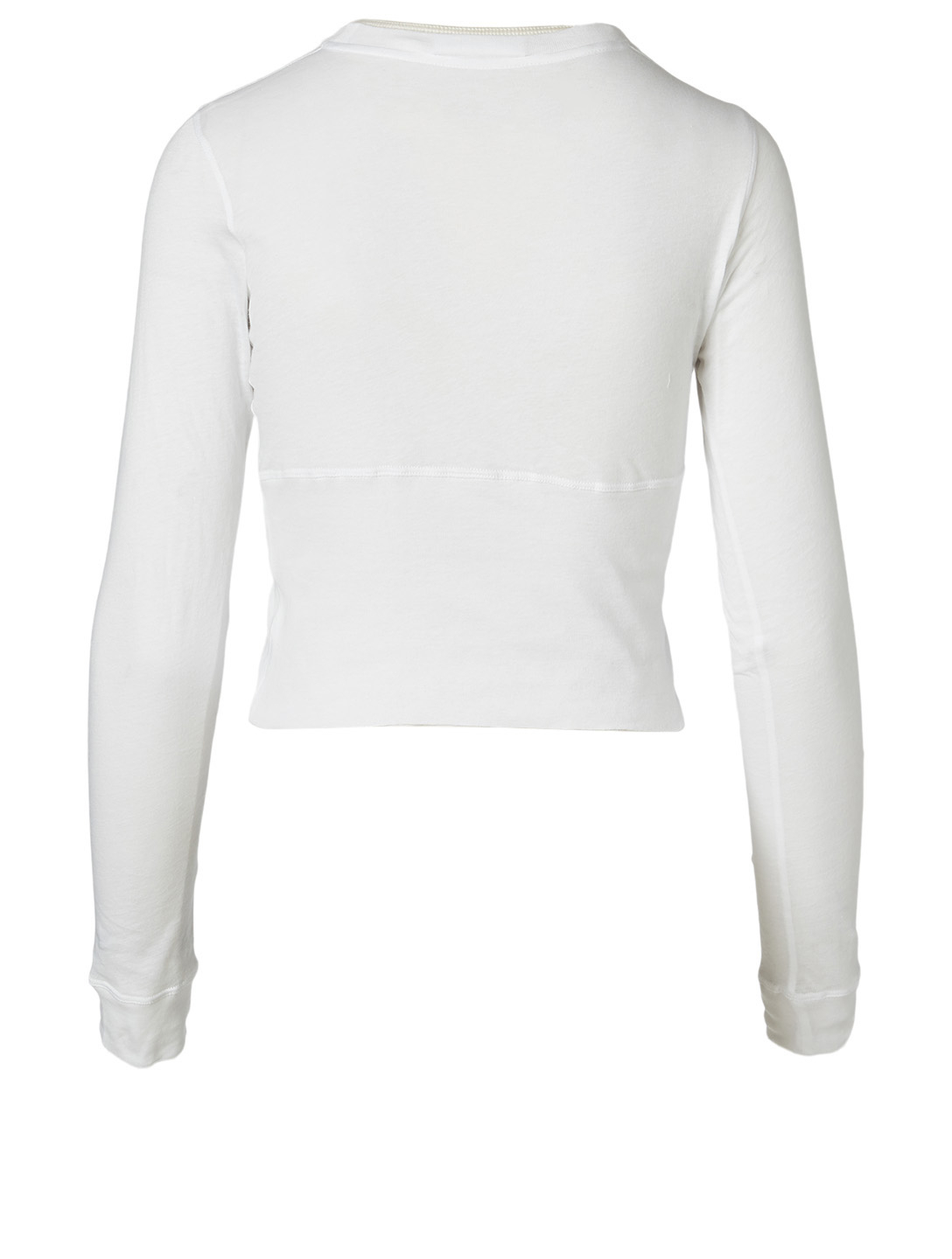WARDROBE.NYC Cotton Long-Sleeve T-Shirt Women's White