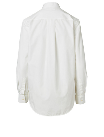 WARDROBE.NYC Cotton Tuxedo Shirt Women's White