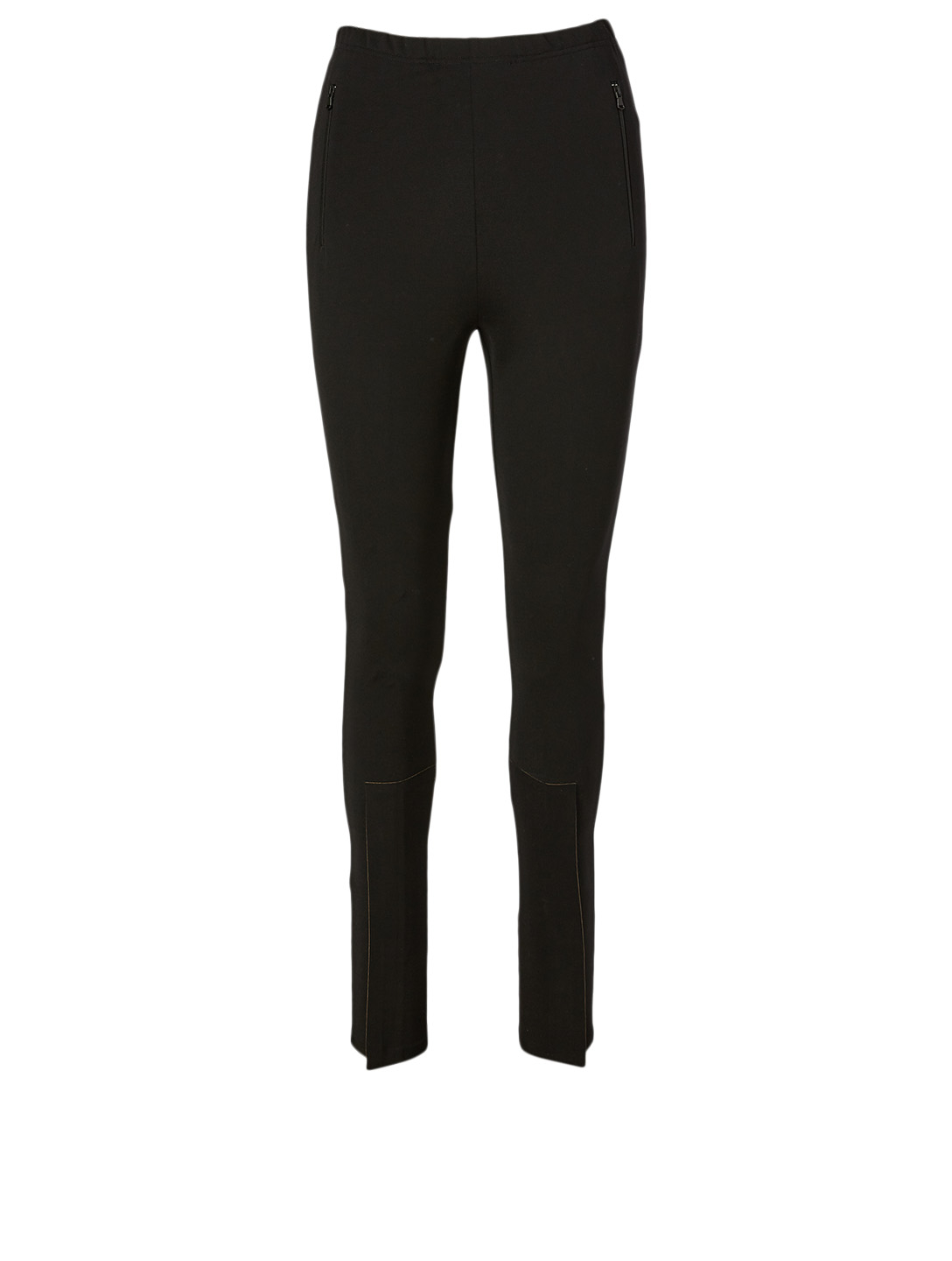 WARDROBE.NYC Slim Leggings With Zippers Women's Black