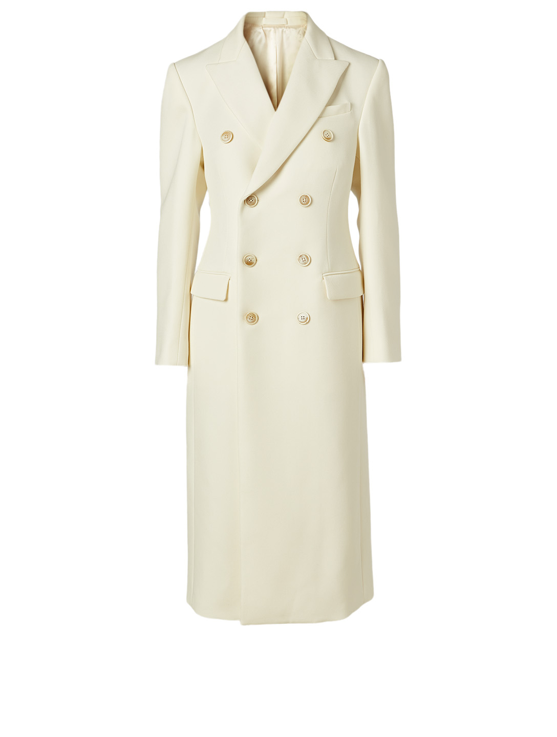 WARDROBE.NYC Wool Double-Breasted Coat Women's White